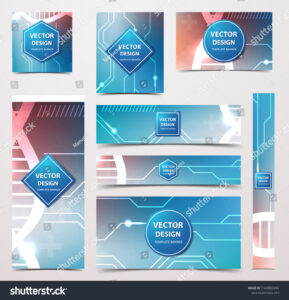 Medical Banner Technological Scientific Abstract Geometric pertaining to Medical Banner Template
