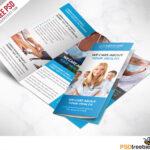 Medical Care And Hospital Trifold Brochure Template Free Psd Regarding Free Tri Fold Brochure Templates Microsoft Word