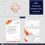 Medical Cross Logo Template Vector Illustration And Free Inside Business Card Letterhead Envelope Template