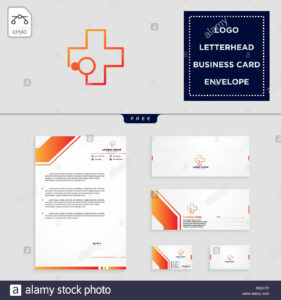 Medical Cross Logo Template Vector Illustration And Free inside Business Card Letterhead Envelope Template