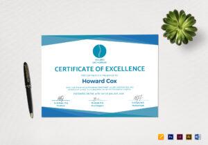 Medical Excellence Certificate Template regarding Indesign Certificate Template