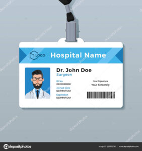Medical Id Card Template | Doctor Id Card Template. Medical inside Doctor Id Card Template