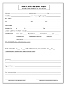 Medical Incident Report Form Template intended for Incident Report Template Microsoft