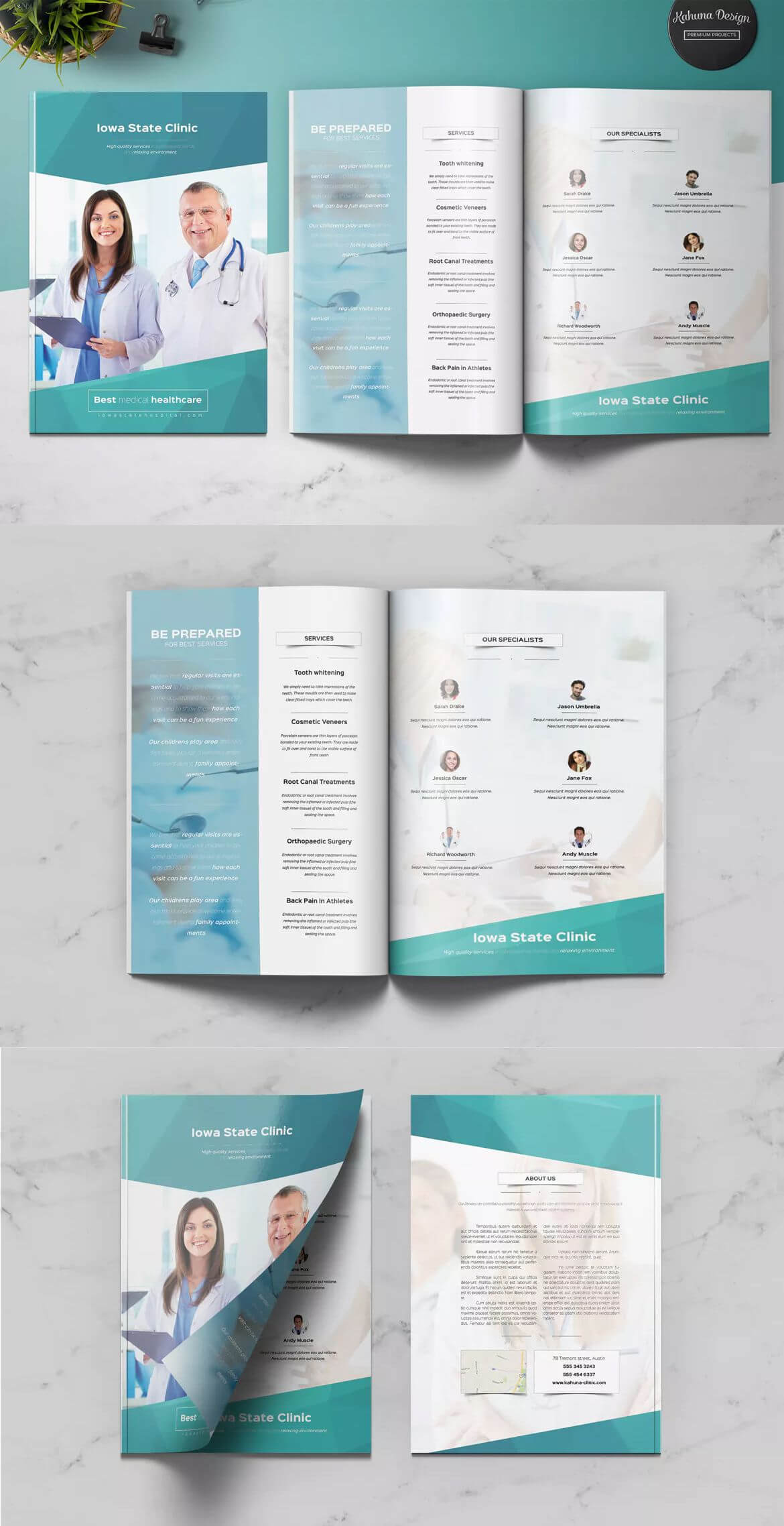 Medical Multipurpose Brochure Template Indesign Indd - A4 + Within Letter Size Brochure Template