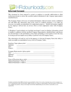 Medical Release Of Information Form Template. Authorization for Medical History Template Word