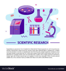 Medical Research Banner Template In Flat Style Vector Image in Medical Banner Template