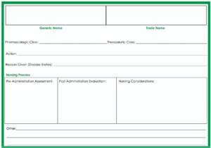 Medication Card Template Nursing Seven Disadvantages Of pertaining to Med Cards Template