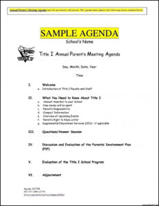 Meeting Agenda Template Free Brochure Templates Project pertaining to Free Meeting Agenda Templates For Word