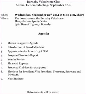 Meeting Agendalate Hsc Business Minutes Sample For Team with regard to Treasurer's Report Agm Template