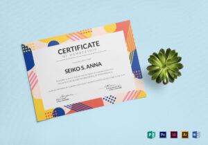 Membership Certificate Template for Indesign Certificate Template