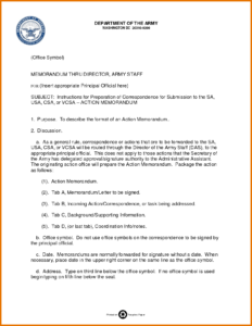 Memo Template Army | Free Resume Example regarding Army Memorandum Template Word