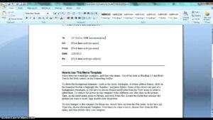 Memo Template Word 2010 – Wepage.co within Memo Template Word 2010