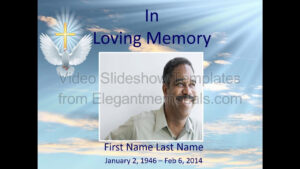 Memorial Slideshow Video Template | Elegant Memorials throughout Funeral Powerpoint Templates