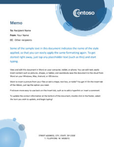 Memos – Office intended for Memo Template Word 2013