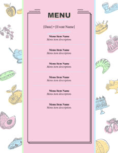 Menus – Office intended for Free Cafe Menu Templates For Word