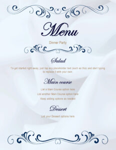 Menus – Office throughout Free Cafe Menu Templates For Word