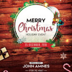 Merry Christmas 2018 – Free Psd Flyer Template – Free Psd In Christmas Brochure Templates Free