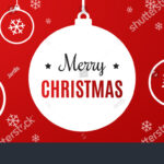 Merry Christmas Banner White Template Over Stock Vector For Merry Christmas Banner Template