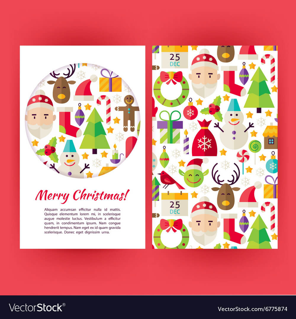 Merry Christmas Banners Set Template For Merry Christmas Banner Template