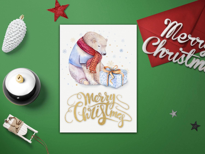 Merry Christmas Card Template – Diy Christmas Card Templates – Xmas Card  Template – Printable Merry Christmas Card – Diy Xmas Card Template Pertaining To Diy Christmas Card Templates