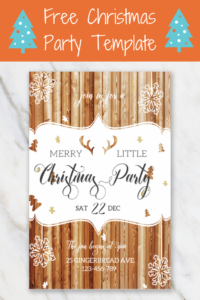 Merry Little Christmas Invitation Template | Christmas pertaining to Free Christmas Invitation Templates For Word