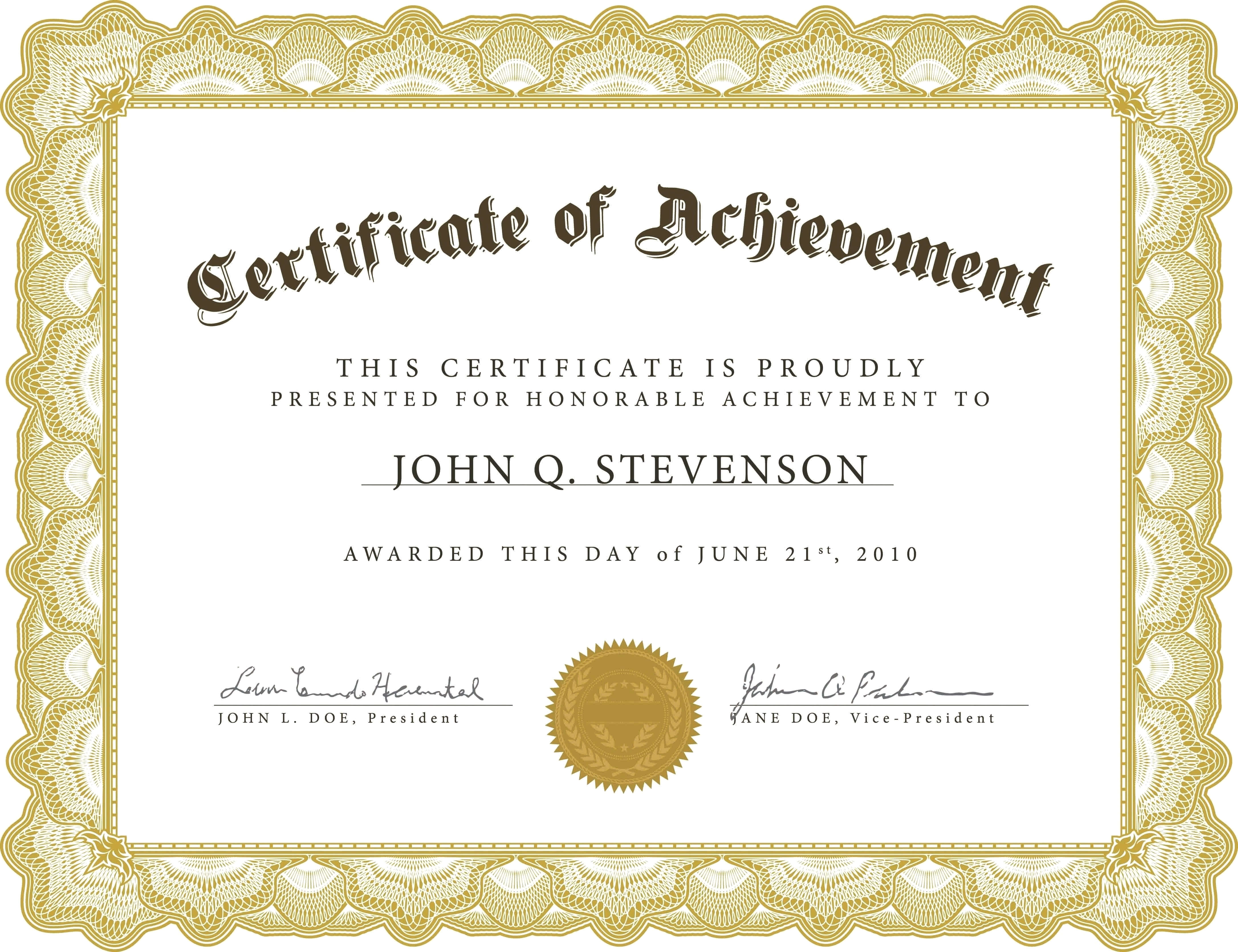 Microsoft Certificate Template Certificates Office Printable Throughout Microsoft Word Award Certificate Template