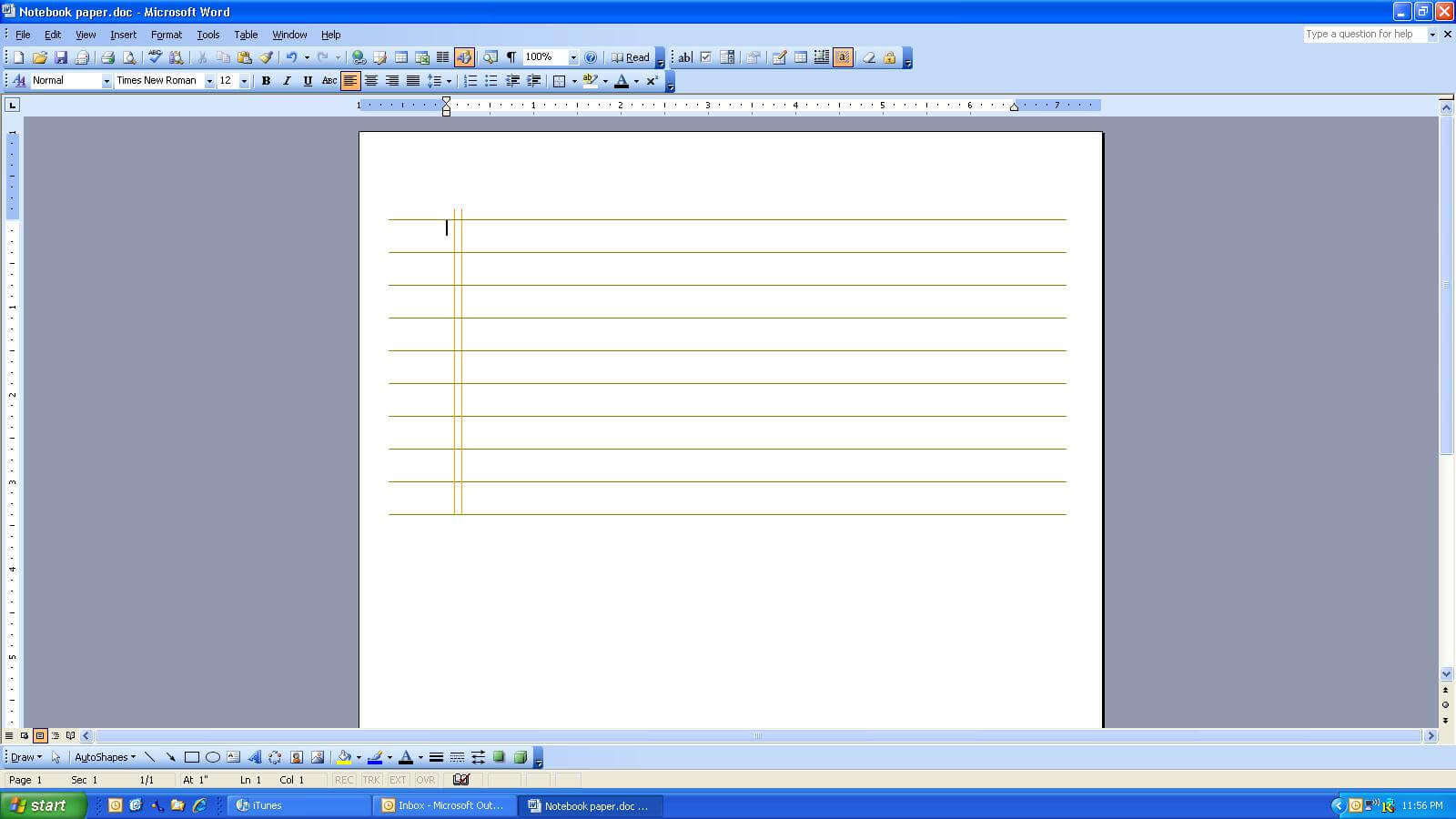 Microsoft Word Notebook Regarding Notebook Paper Template For Word 2010