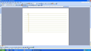 Microsoft Word Notebook throughout Notebook Paper Template For Word
