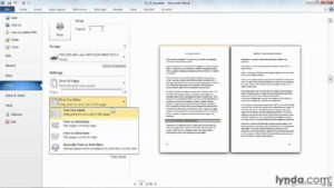 Microsoft Word Tutorial: How To Print A Booklet | Lynda regarding Booklet Template Microsoft Word 2007