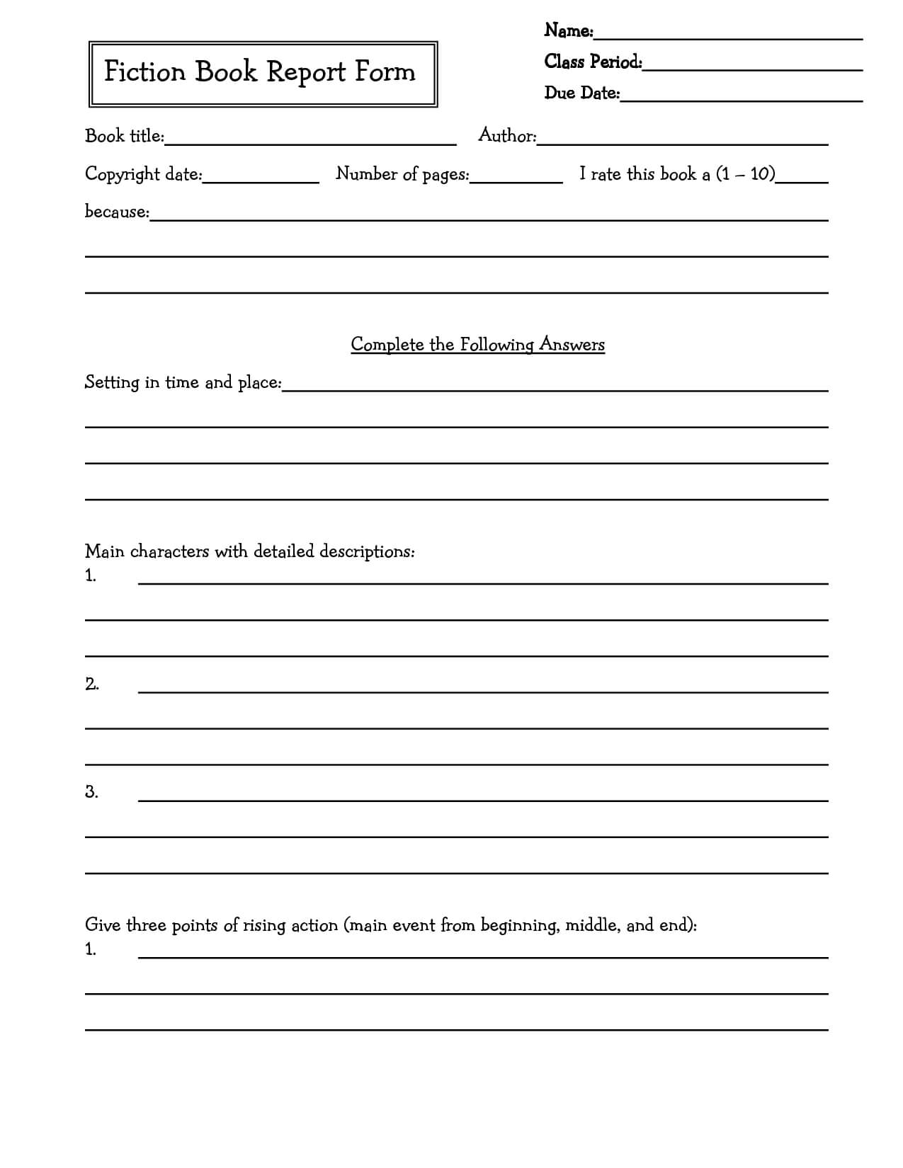 Middle School Book Report Brochure. 6Th Grade | 7Th Grade Regarding Middle School Book Report Template