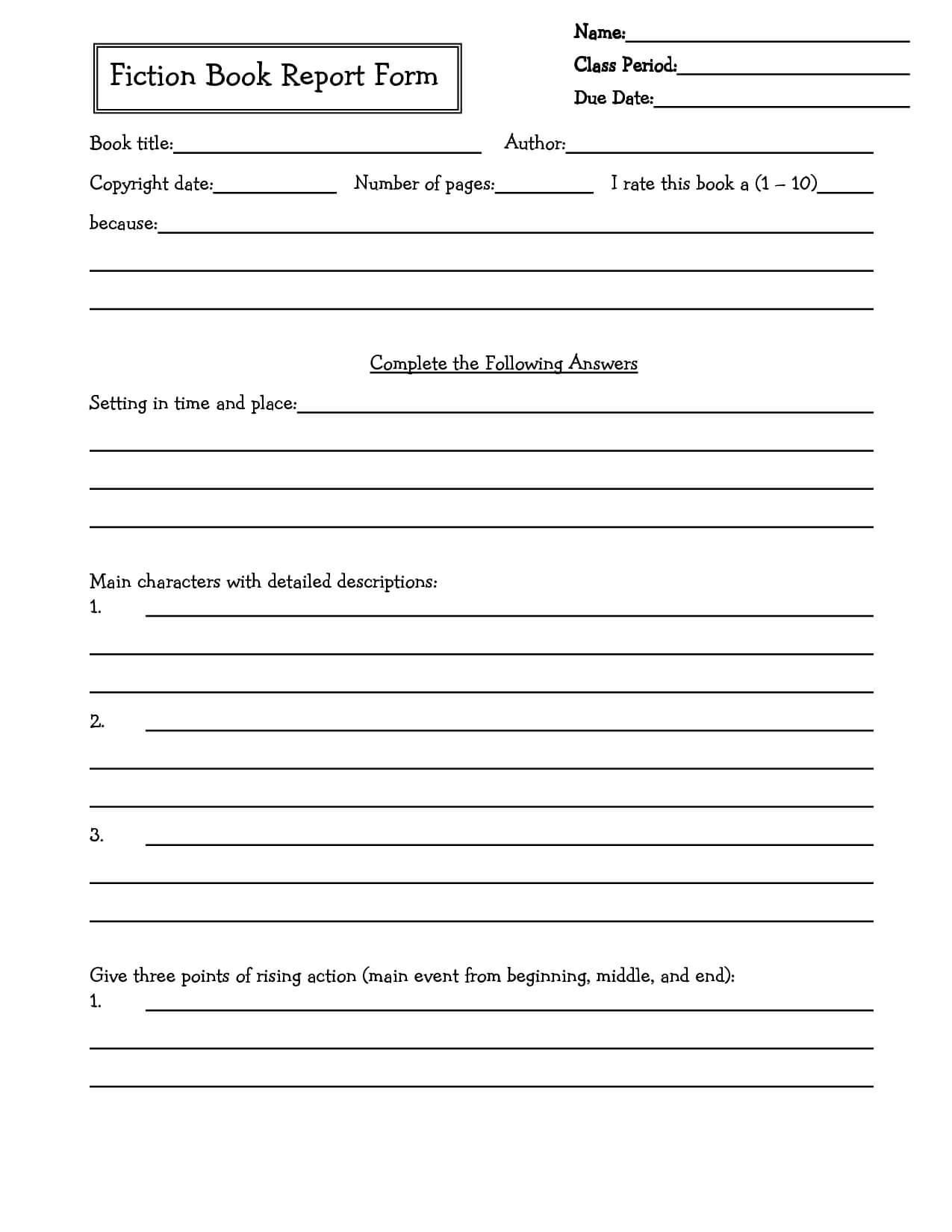 Middle School Book Report Brochure. 6Th Grade | 7Th Grade With Regard To Book Report Template Middle School