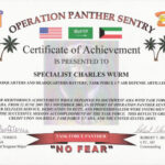 Military Certificate Of Appreciation Template – Top Image Intended For Certificate Of Achievement Army Template