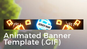 """Minecraft Animated Server Banner Template """"drop The Blocks"""" pertaining to Minecraft Server Banner Template"""