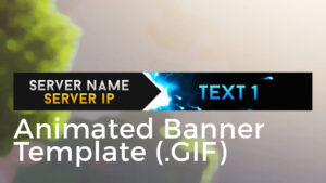 "Minecraft Animated Server Banner Template ""super Dazzle"" within Animated Banner Template"