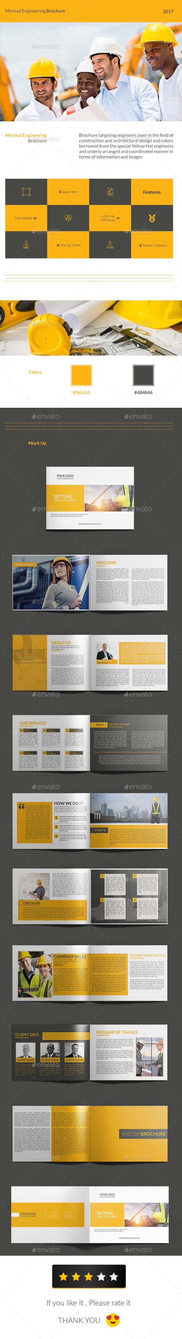 Minimal Engineering Brochure | Brochure Templates | Brochure Pertaining To Engineering Brochure Templates