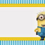 Minions Birthday Invitation Template Free Printable Within Minion Card Template