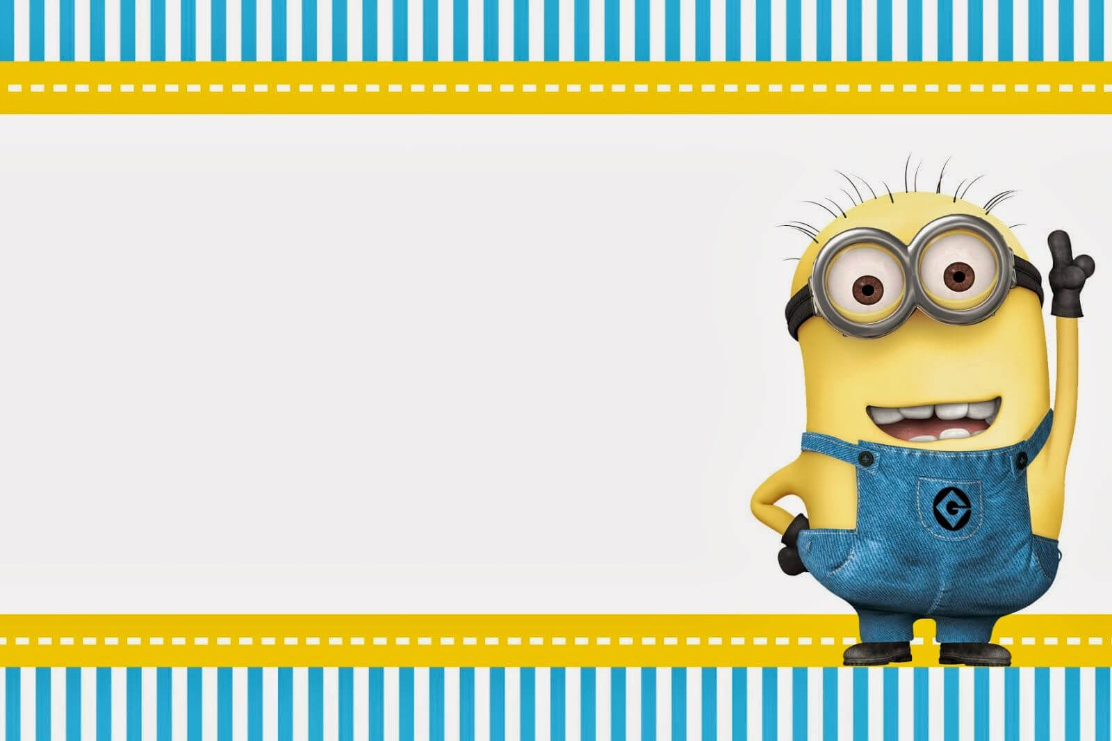 Minions Birthday Invitation Template Free Printable Within Minion Card Template