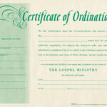 Minister License Certificate Template Regarding Certificate Of License Template
