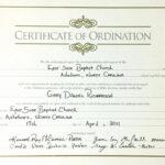 Minister License Certificate Template   Template Modern Design Inside Free Ordination Certificate Template