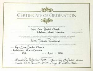 Minister License Certificate Template | Template Modern Design inside Free Ordination Certificate Template