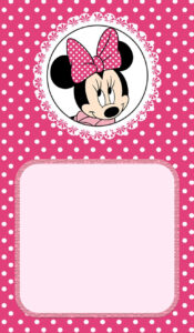 Minnie Mouse Birthday Invitation | Invitation Ideas For pertaining to Minnie Mouse Card Templates