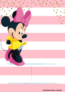 Minnie Mouse Invitation Template – Editable And Free with Minnie Mouse Card Templates