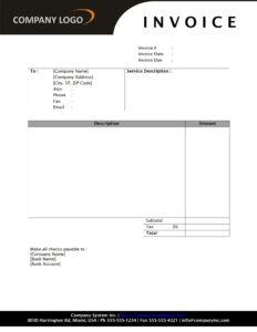 Mkl Invoice Template Word Doc - Id128881 Opendata regarding Invoice Template Word 2010