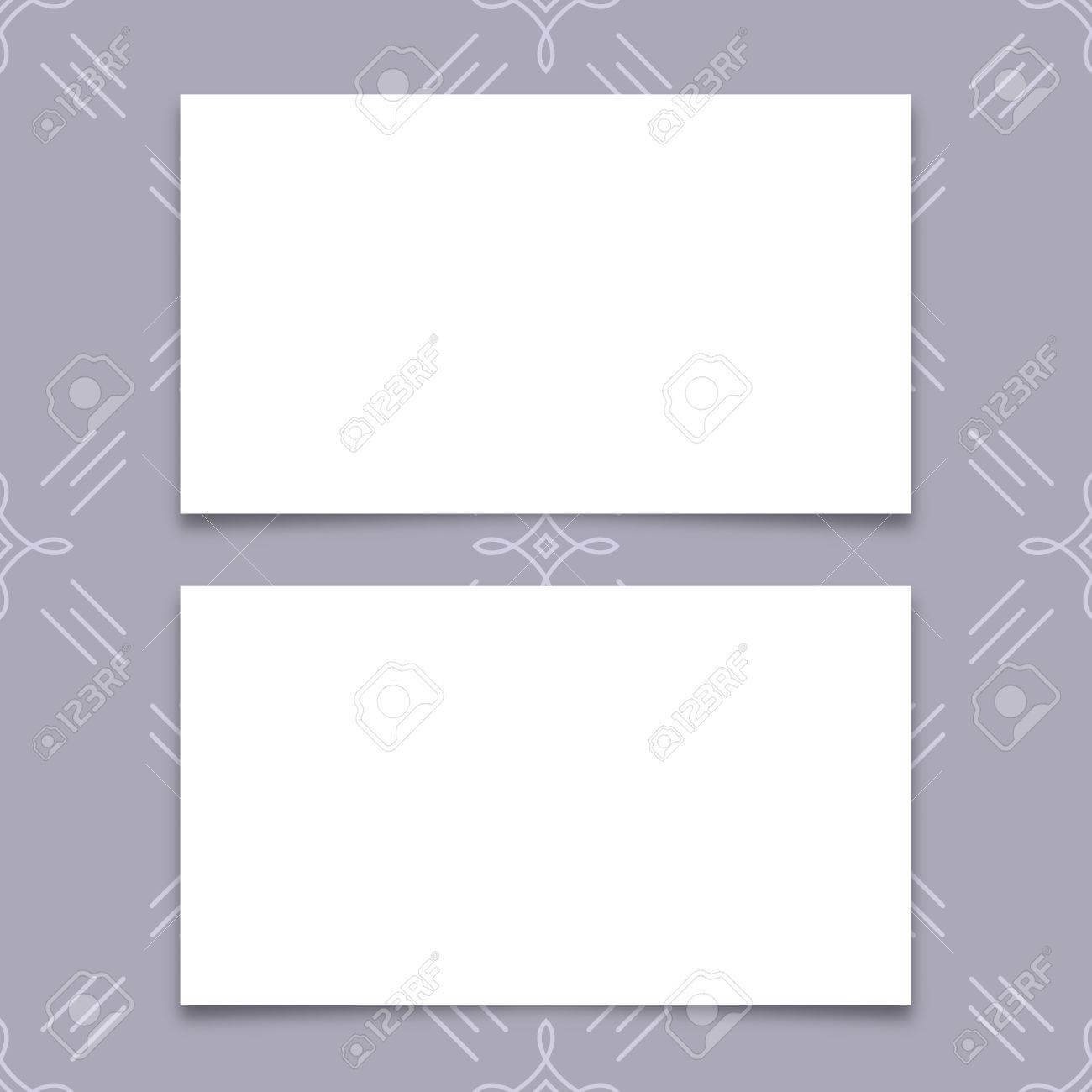 Mock Up Business Card, Blank Business Card Templates With Soft.. Within Plain Business Card Template