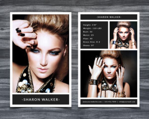 Model Comp Card Template with regard to Free Zed Card Template