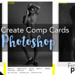 Model Comp Card With Adobe Photoshop + Free Template Inside Comp Card Template Psd