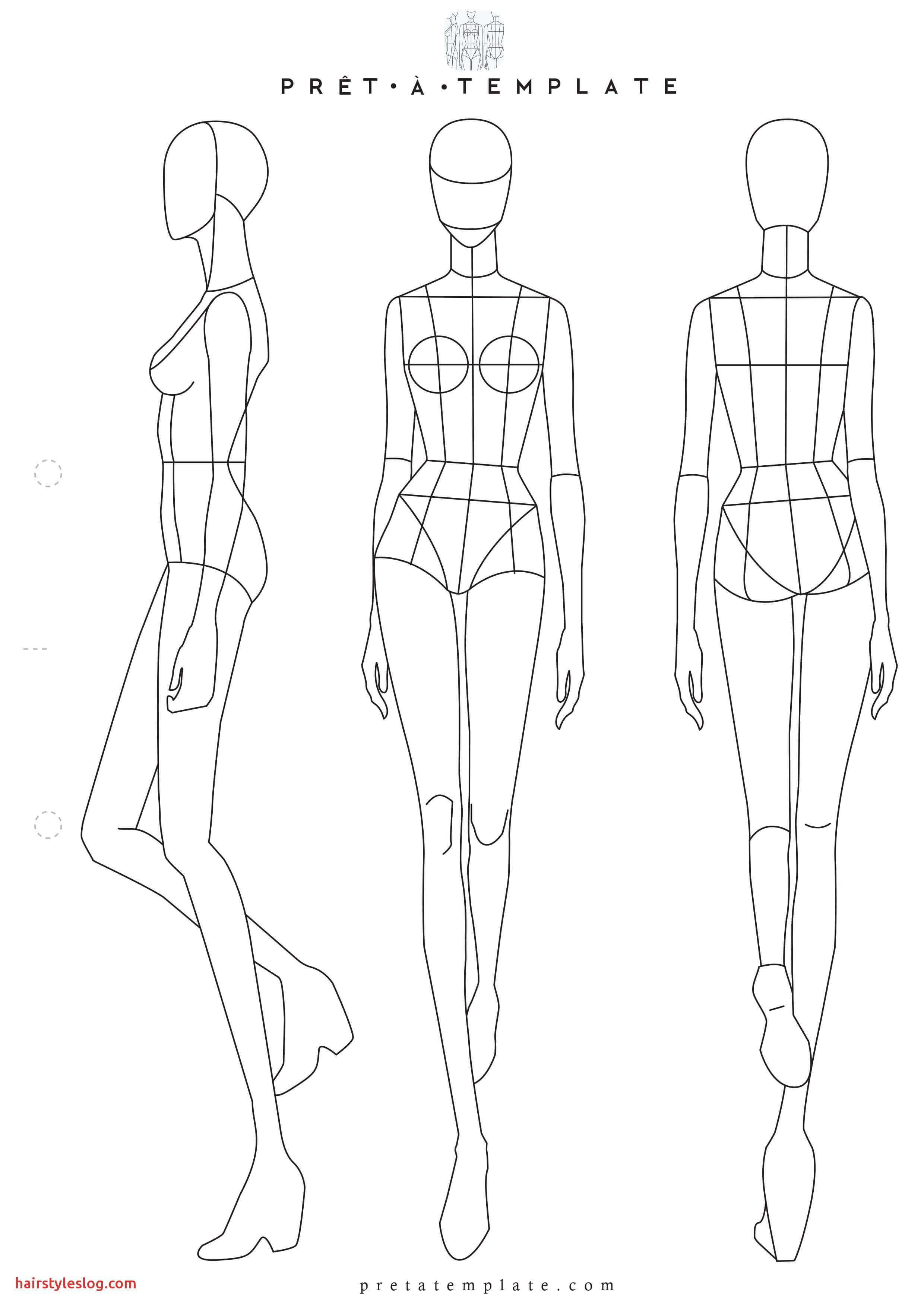 Model Sketch Template At Paintingvalley | Explore Pertaining To Blank Model Sketch Template