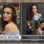 Modeling Comp Card, Comp Card Template, Photoshop Template For Comp Card Template Download