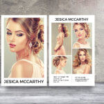Modeling Comp Card   Fashion Model Comp Card Template Intended For Comp Card Template Psd