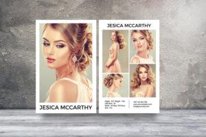 Modeling Comp Card | Fashion Model Comp Card Template with Model Comp Card Template Free